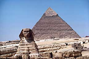 RedSea Sphinx Pyramid In Background